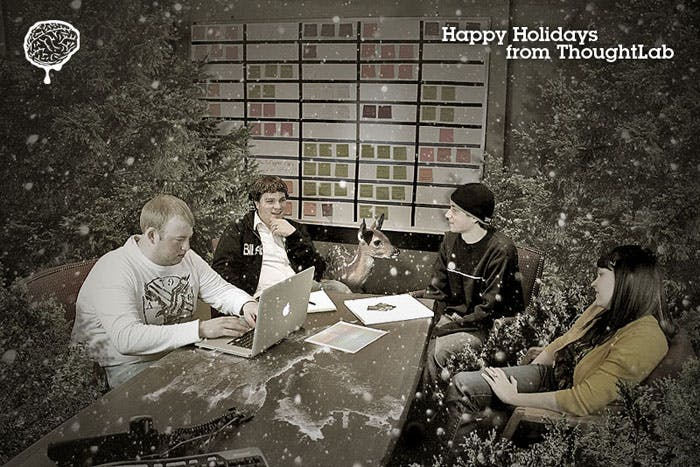 Thoughtlab holiday greeting card 2010