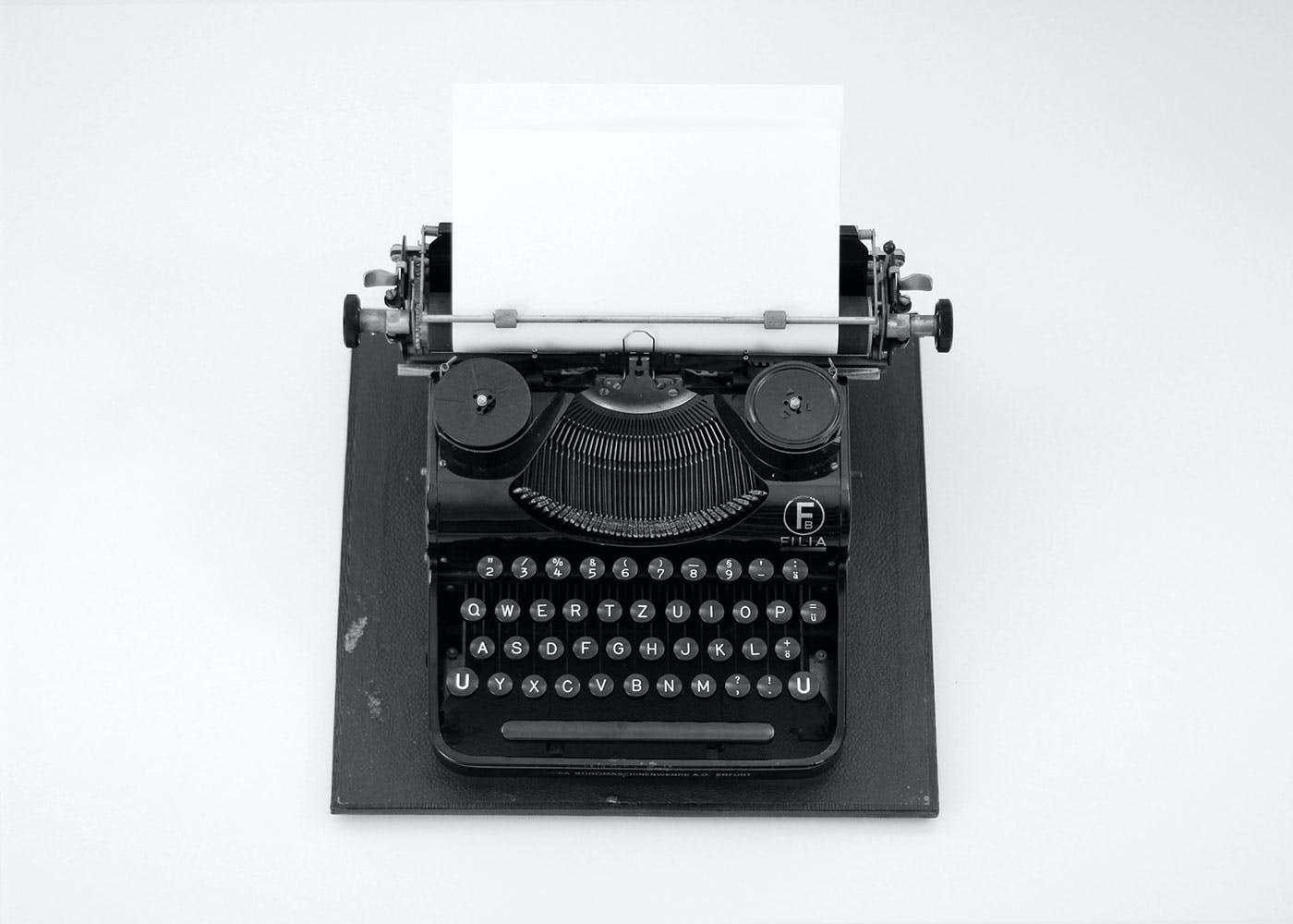 Old typewriter in black and white
