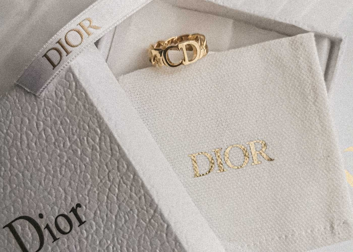 Dior jewelry box and ring