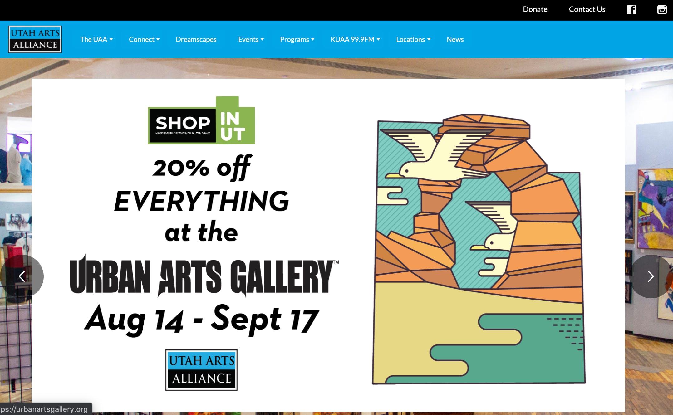 Utah Arts Alliance - Screengrab