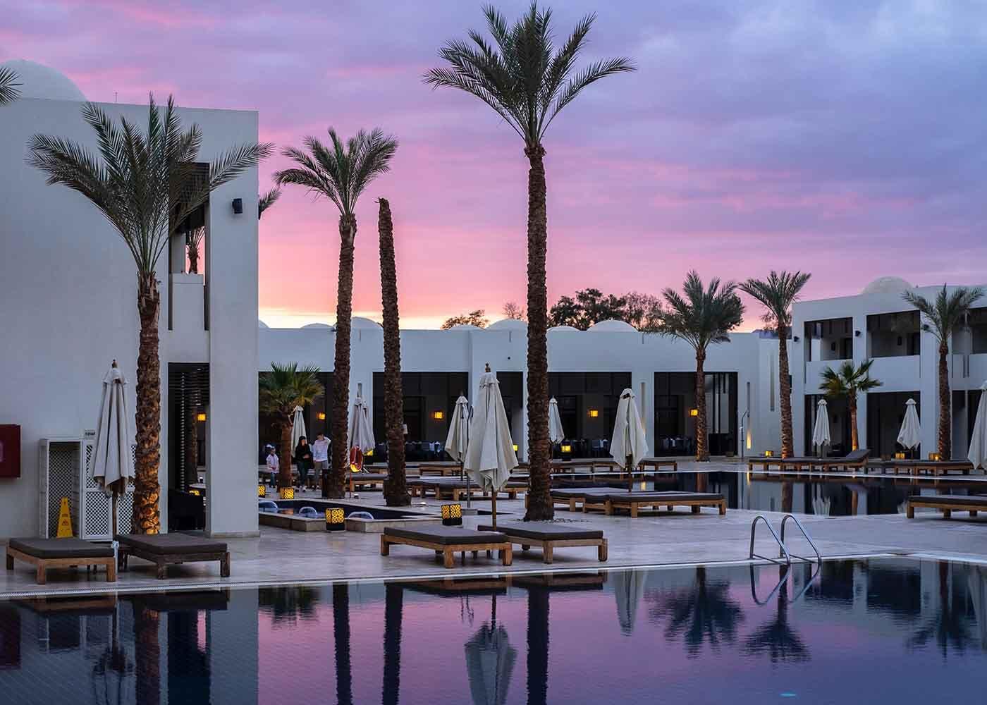 Luxury condo at sunset