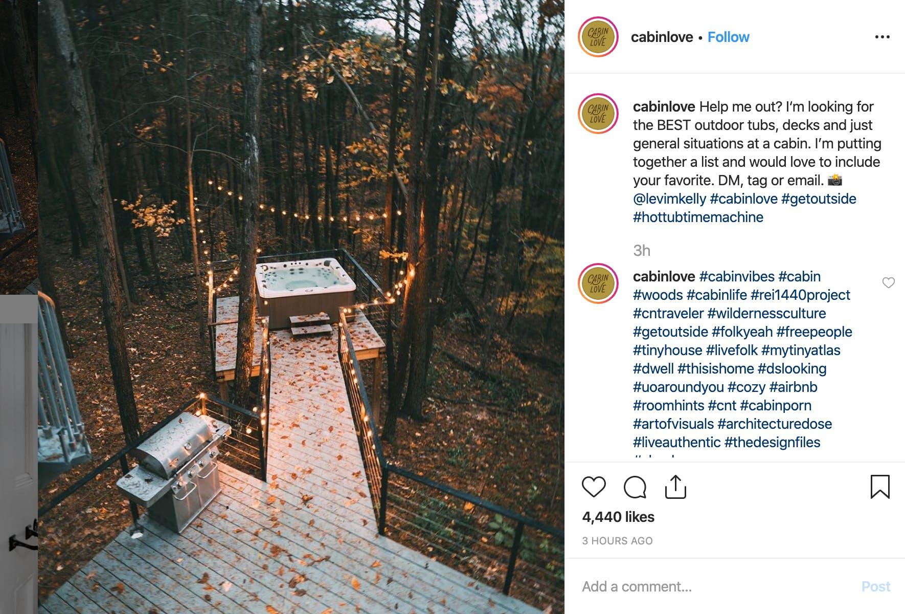 example of hashtags in instagram comment