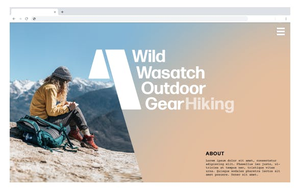 wasatch outdoor gear website concept