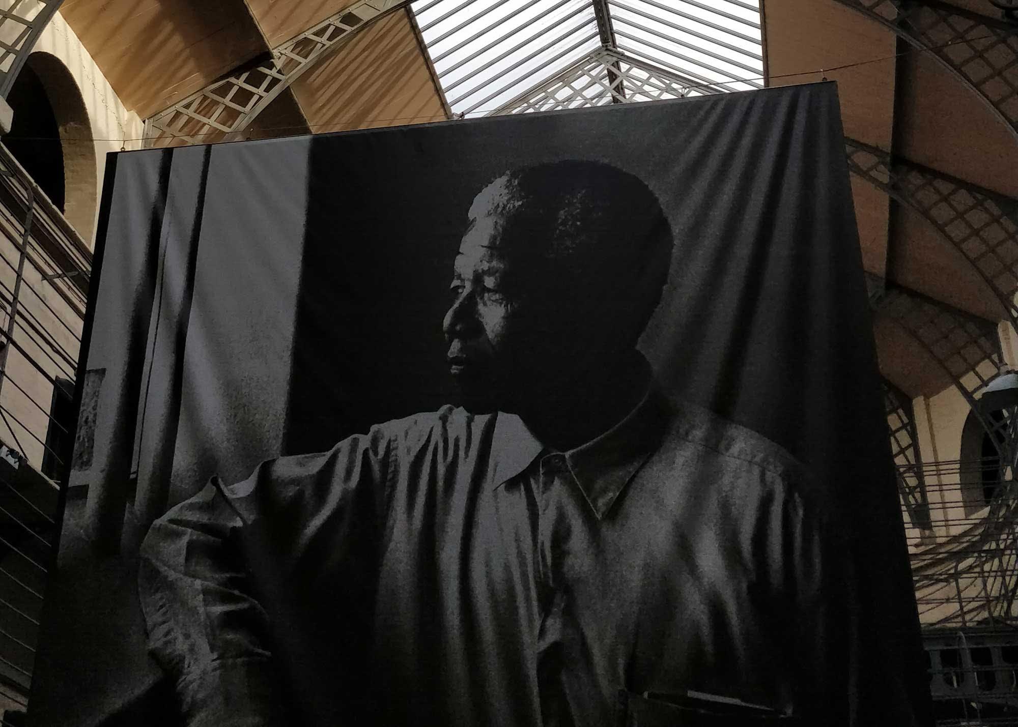 A memorial to Nelson Mandela