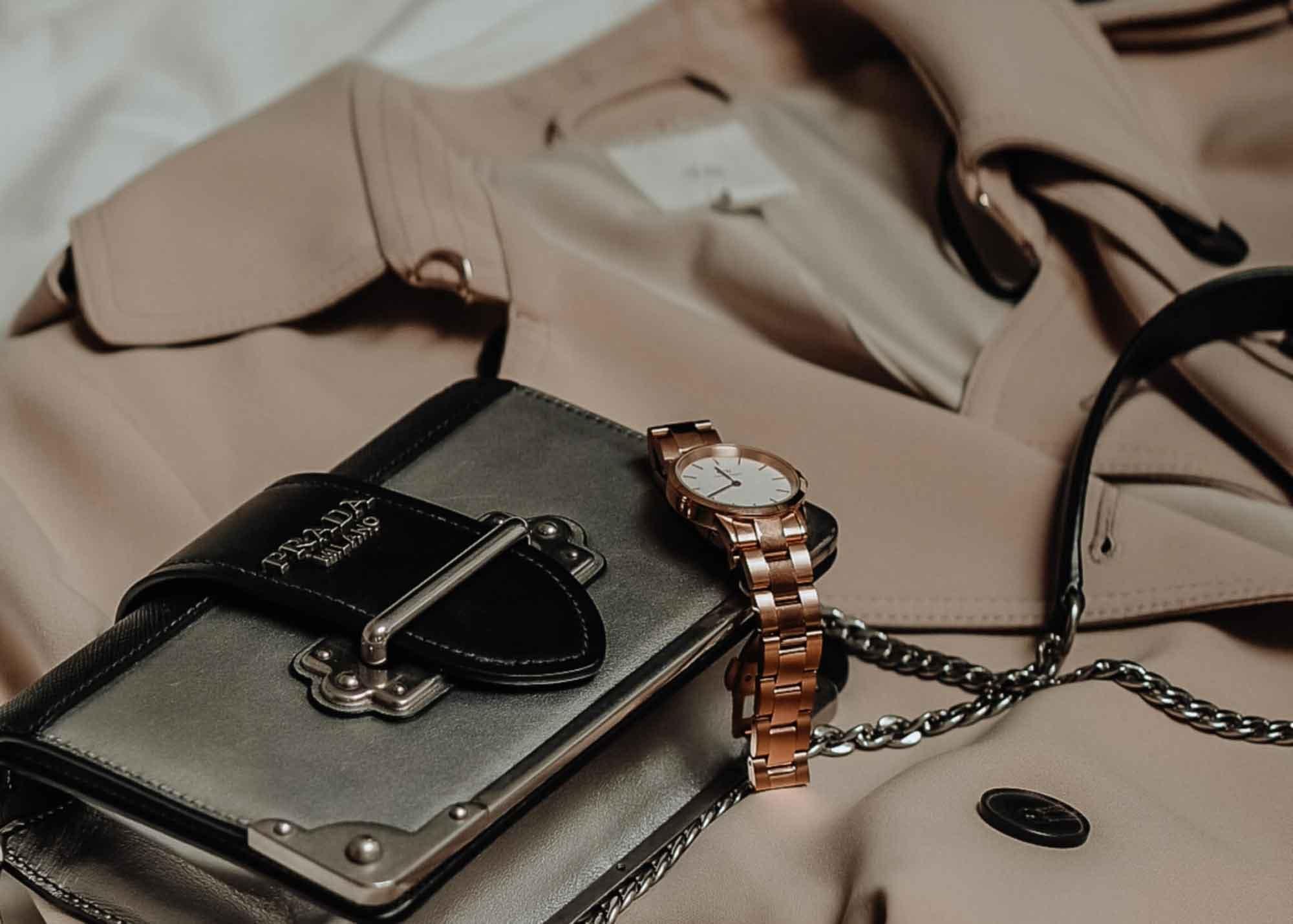 Prada bag and a nice watch