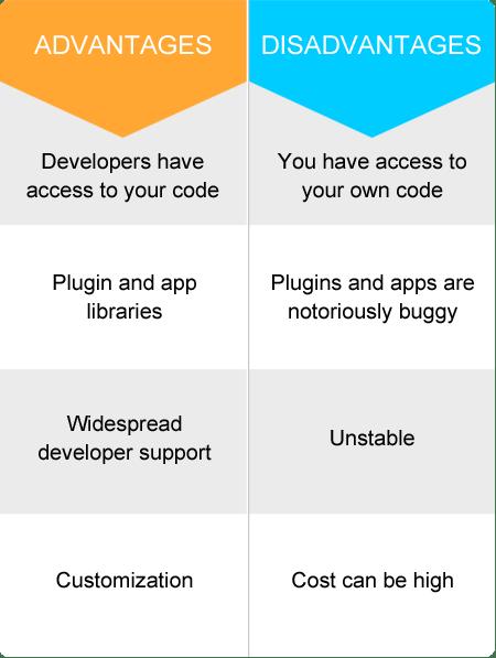 dvantages and disadvantages to an open source platform