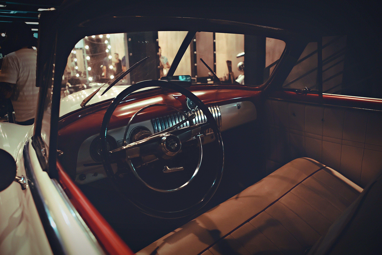 old school steering wheel