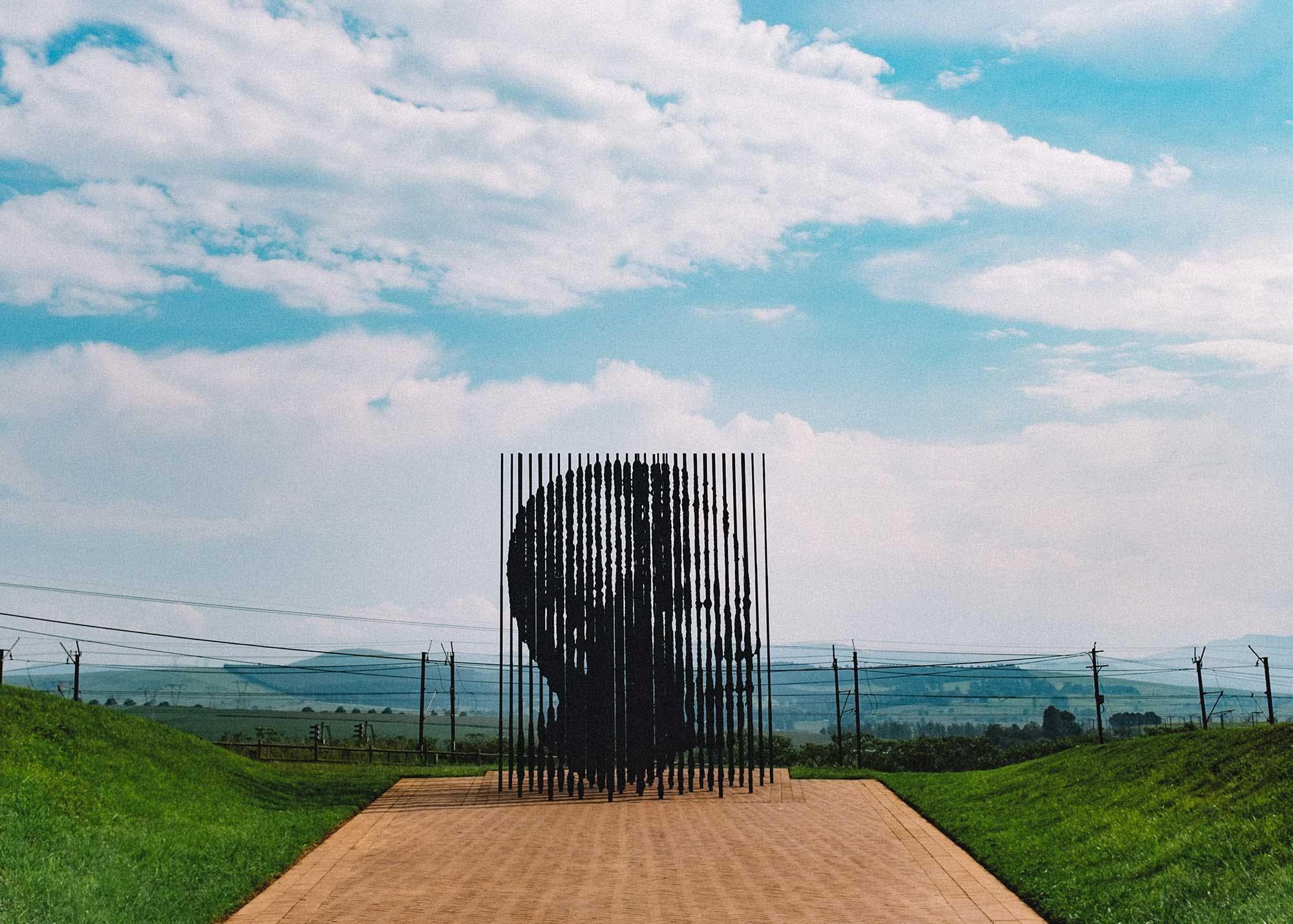 An art memorial to Nelson Mandela