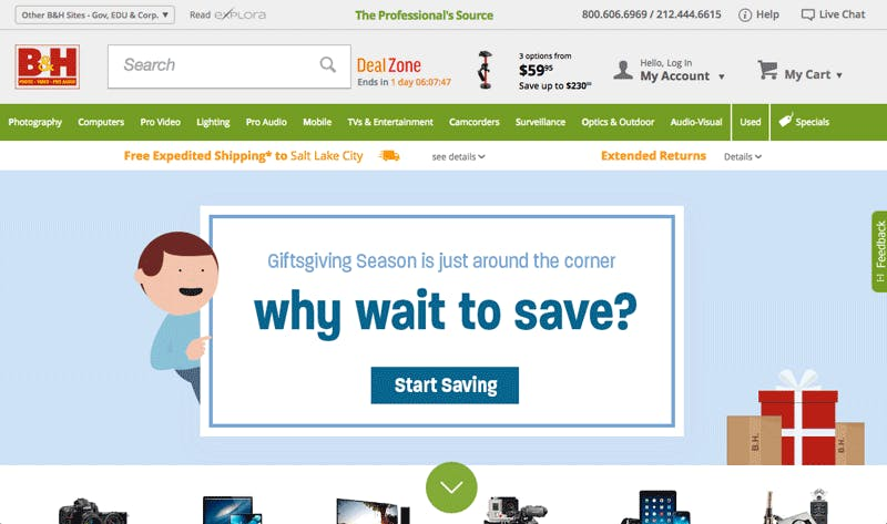 example of free shipping on e-commerce shop
