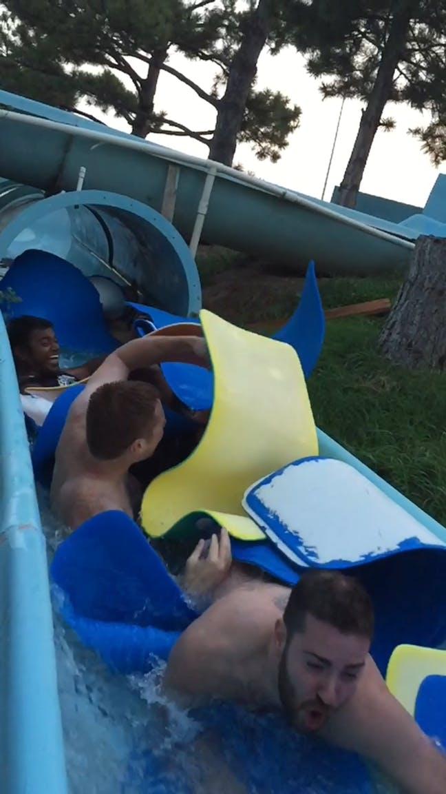 thoughtlab team water slide