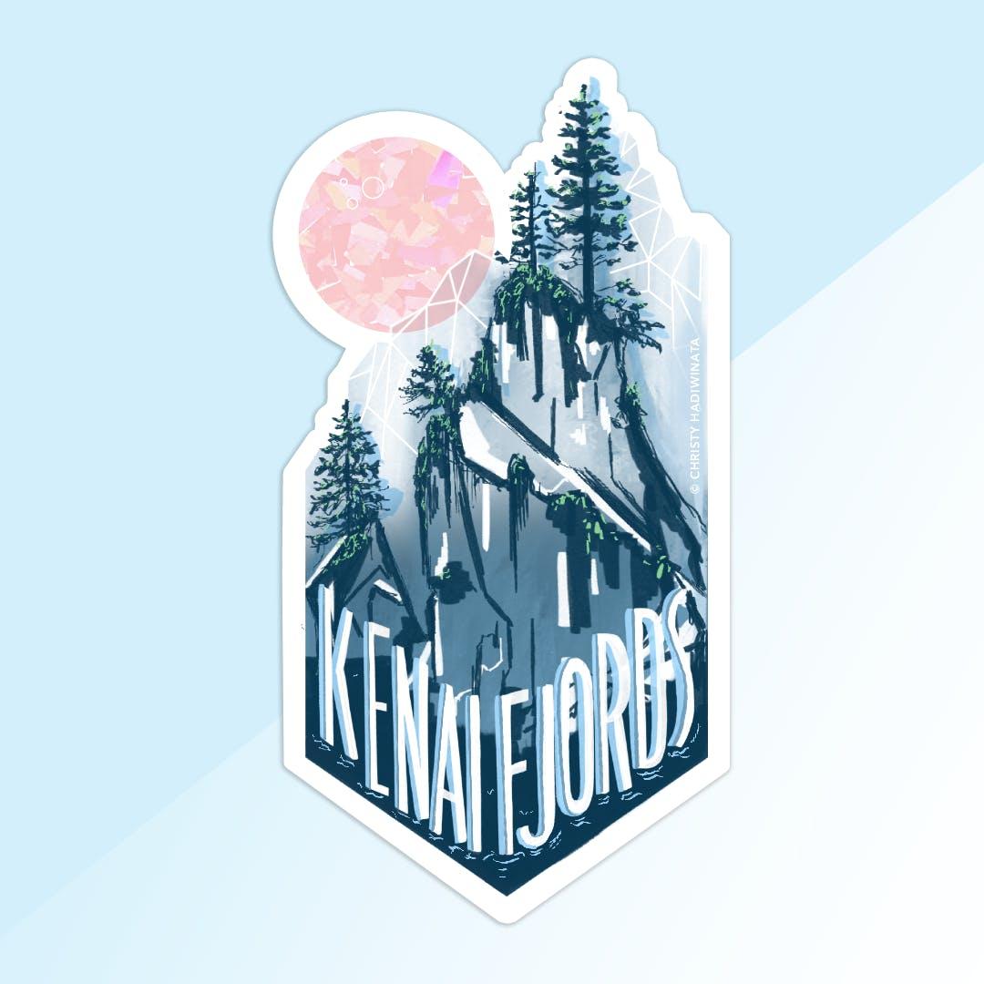 kenai fjords national parks sticker