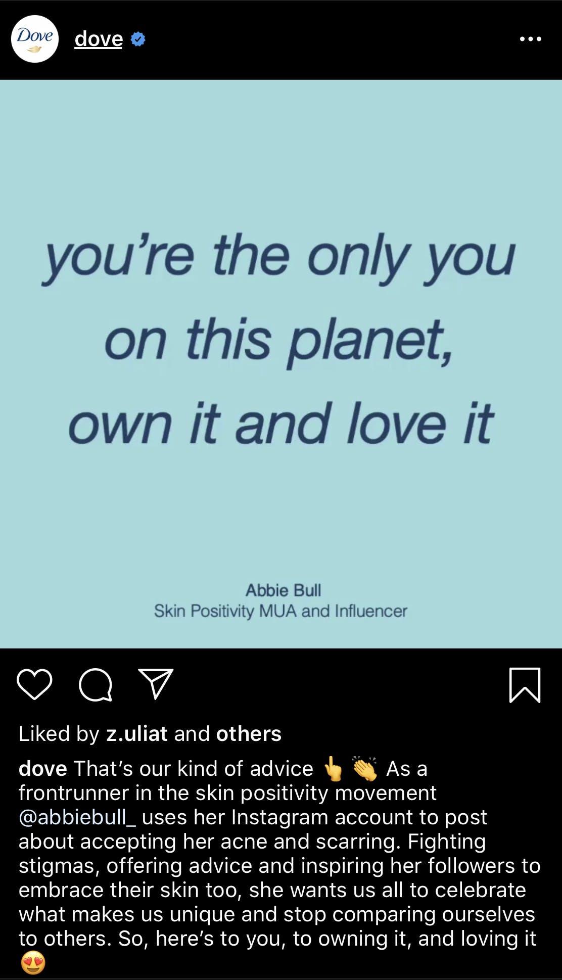 dove instagram