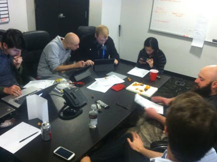 ThoughtLab team playing dungeons and dragons