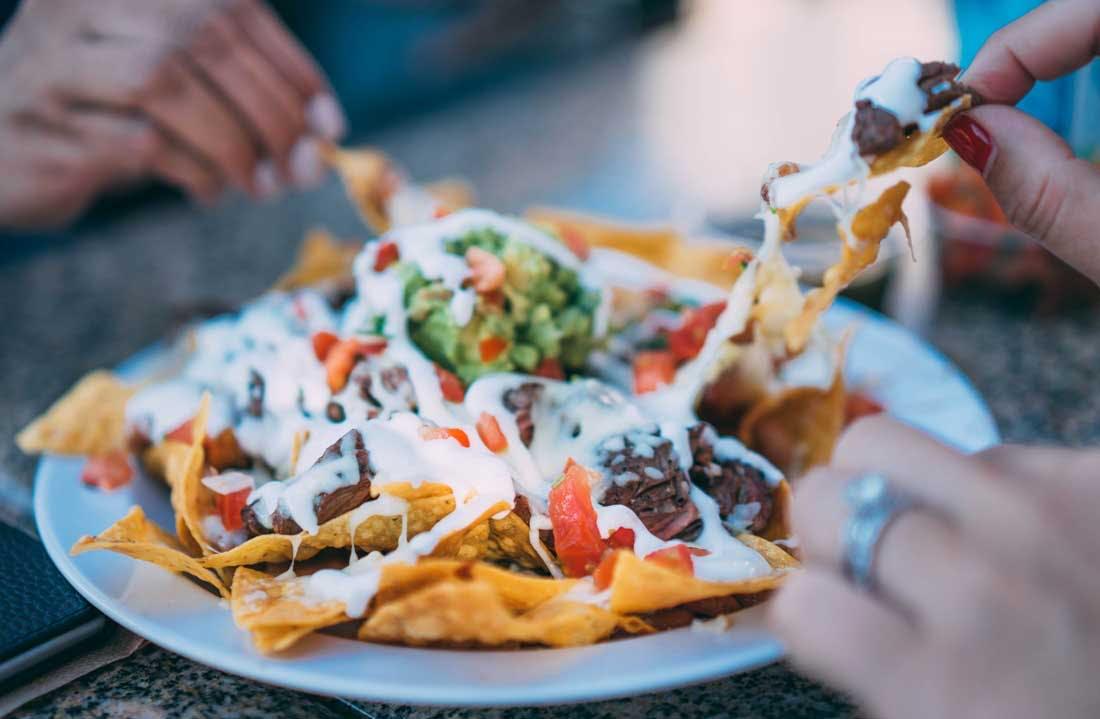 plates of nachos