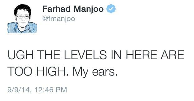 Farhad Manjoo tweeting about apple