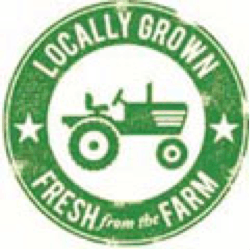 locally grown circle graphic
