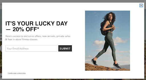 20% off coupon popup