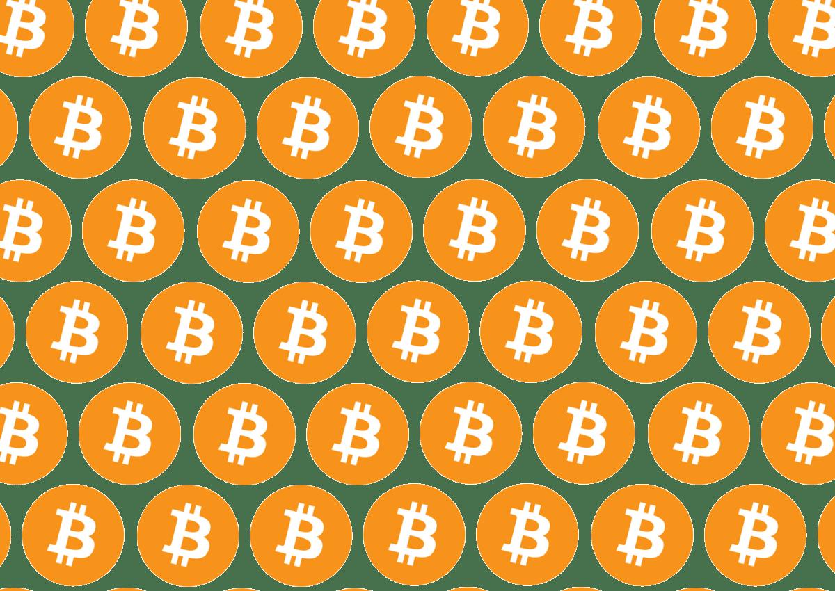 bitcoin logo repeating
