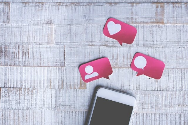 pink paper instagram engagements coming out of iphone