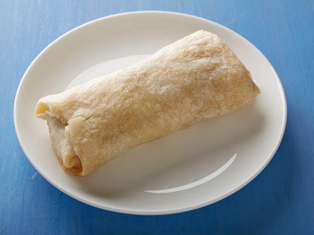 burrito on white plate