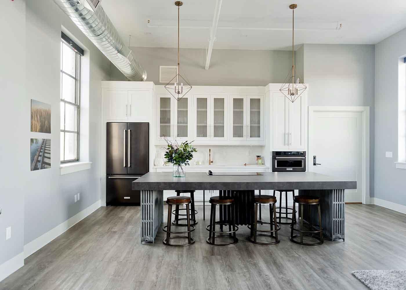 Interior kitchen at a luxury condo