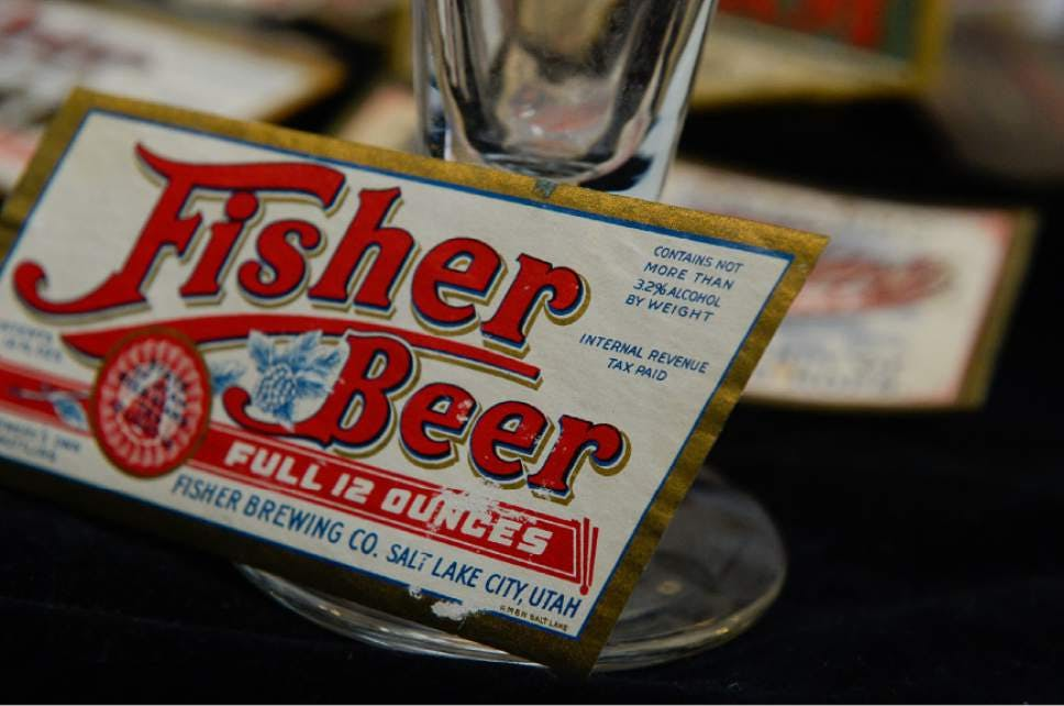 fisher brewing beer label