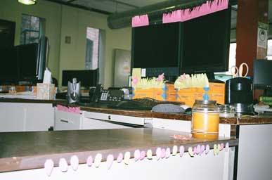 post it noted decor