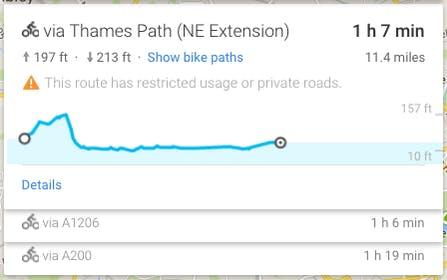 google maps UX example