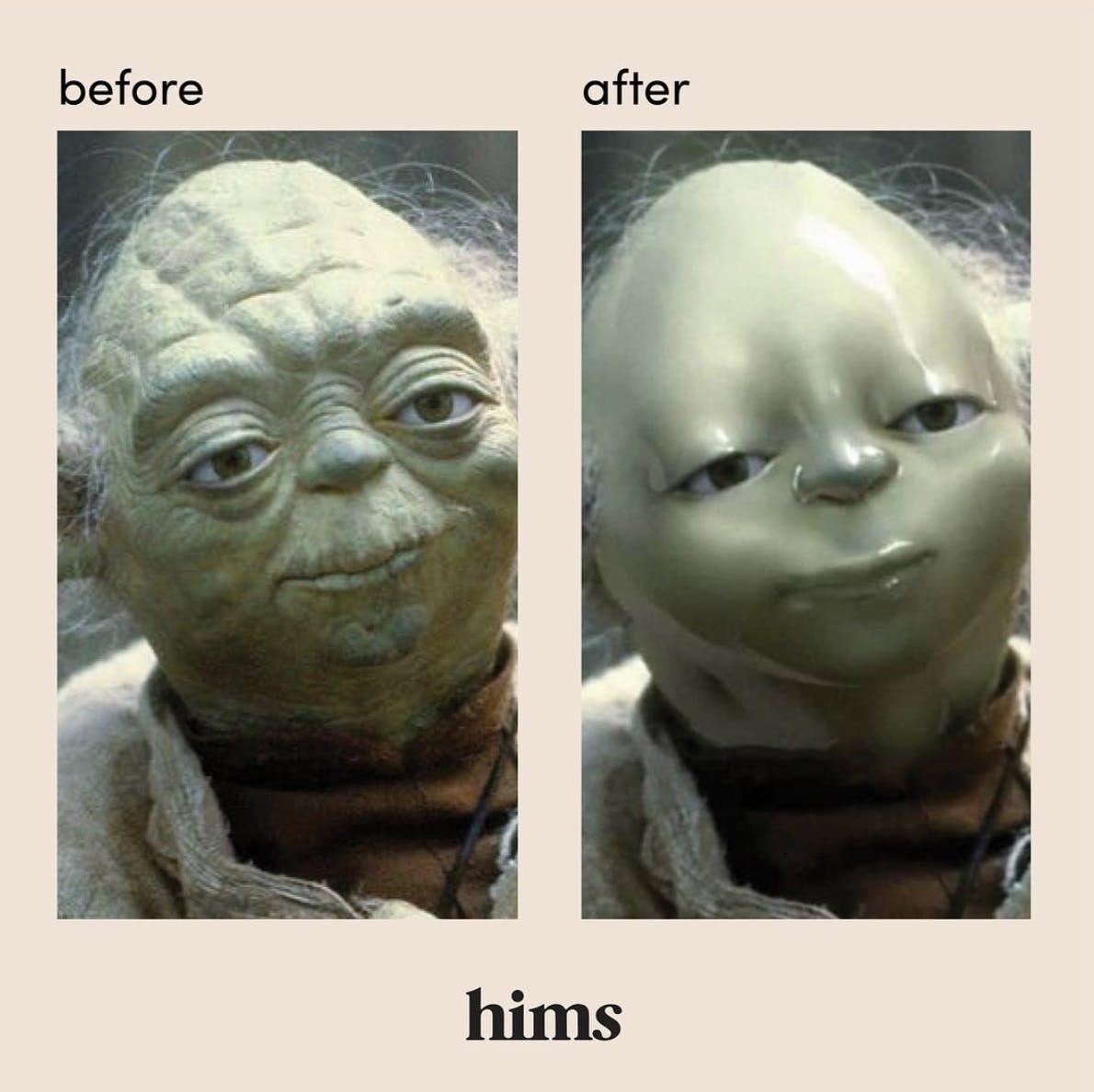 yoda hims meme