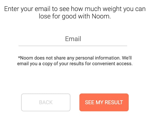 example of using an interesting CTA for forms. CTA reads see my results.