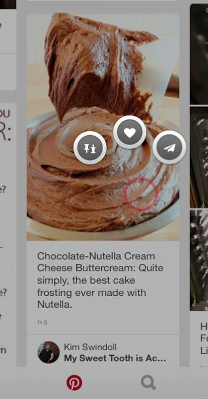 Pinterest UX example