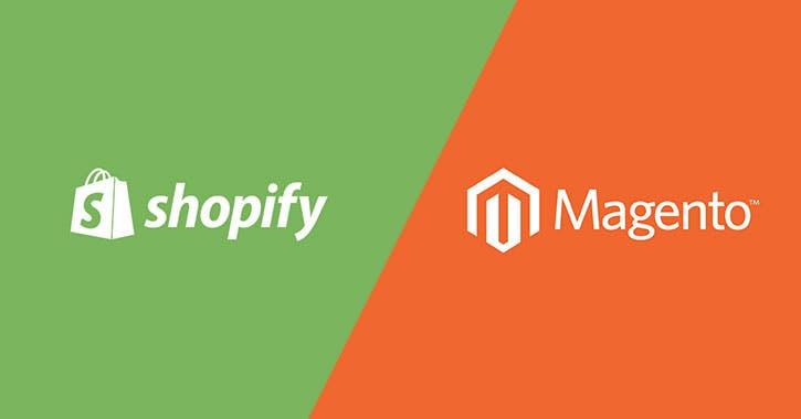 shopify and magento logo