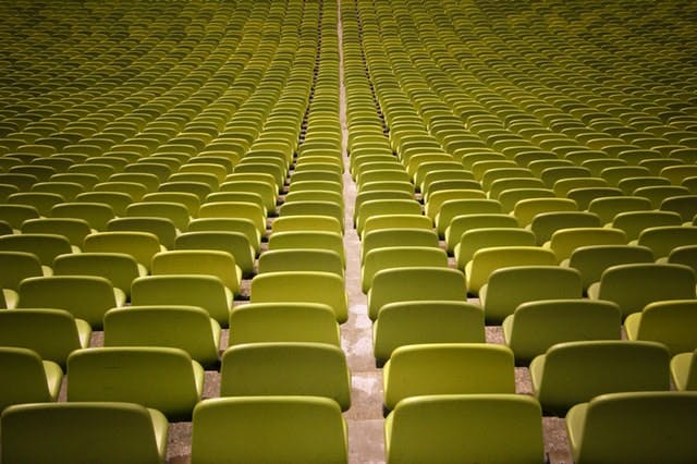 rows of green seats