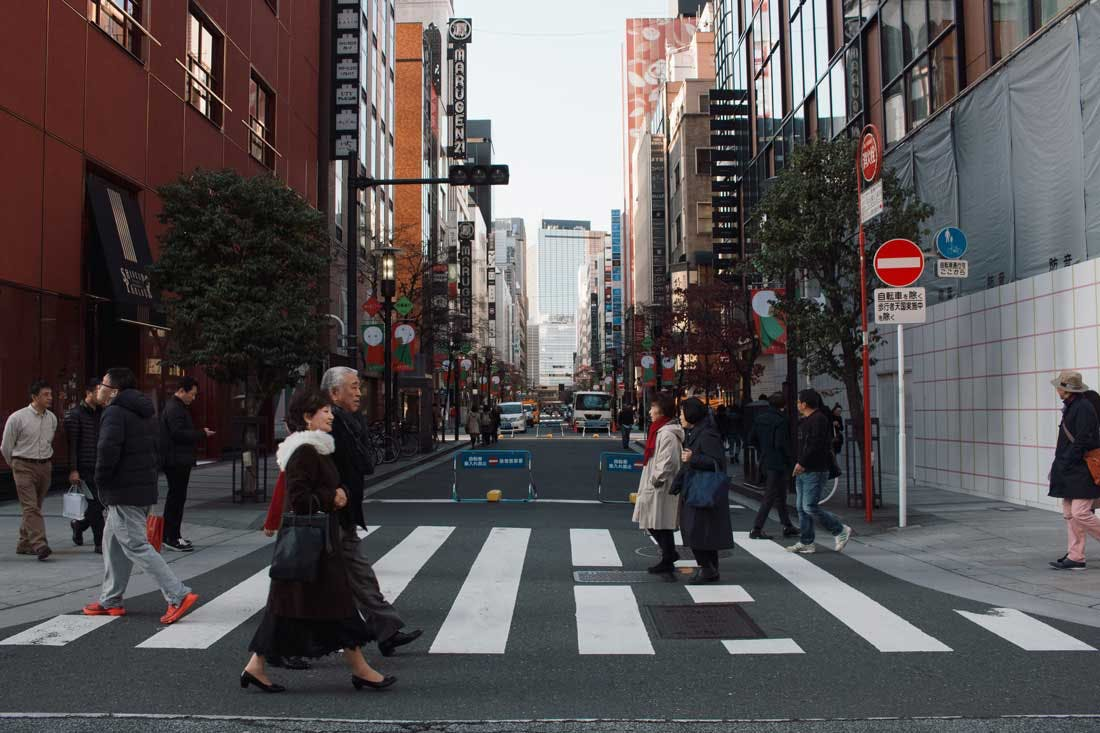 a crowded tokyo street