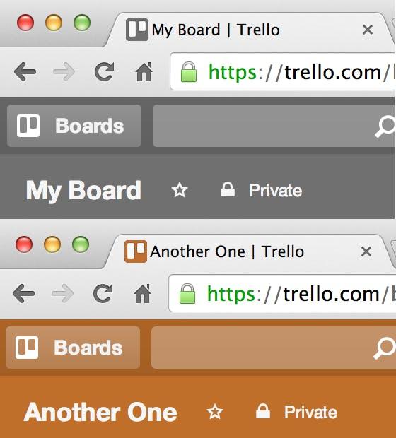 Trello board UX example