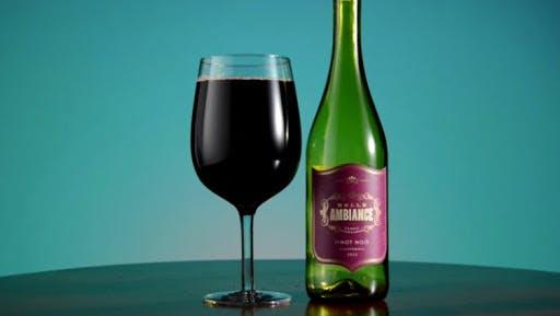 bottle of win glass