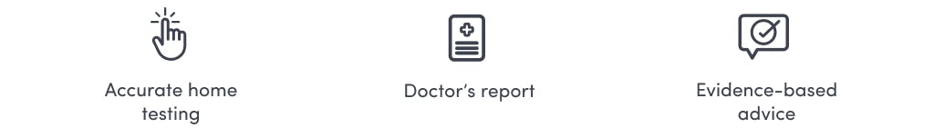 Accurate home testing, doctors report, and evidence-based advice