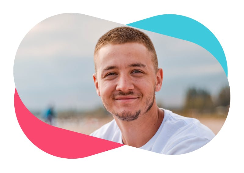 Thriva case study healthy smiling man