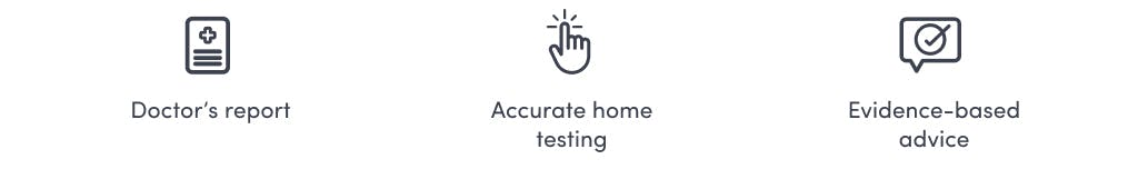 Accurate home blood testing, doctor's report and evidence-based advise for overactive thyroid support
