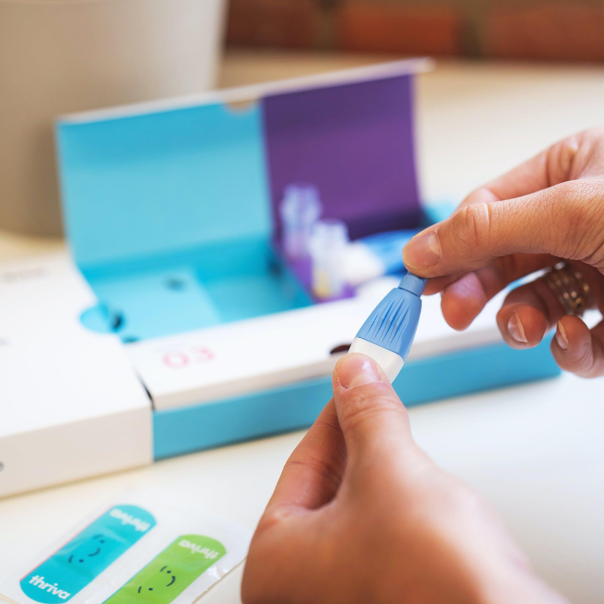 Thriva home finger-prick blood test kit