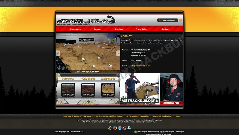 Screenshot of MX Trackbuilders website before 2013 rebuild.