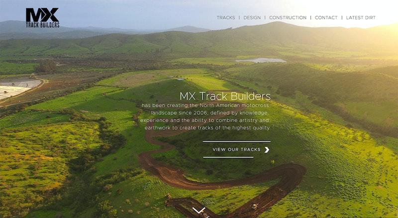 Screenshot of 2019 MX Trackbuilders website.