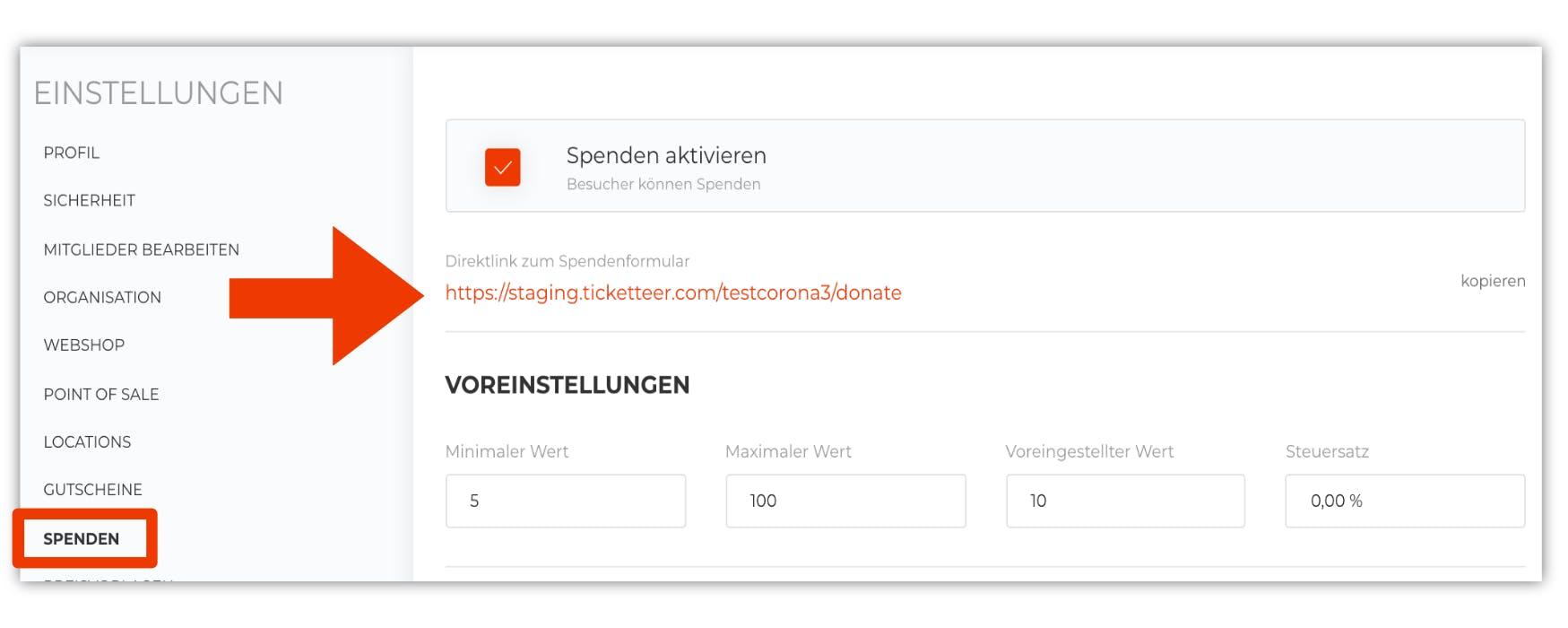 Bild Link für Besucherspendenformular