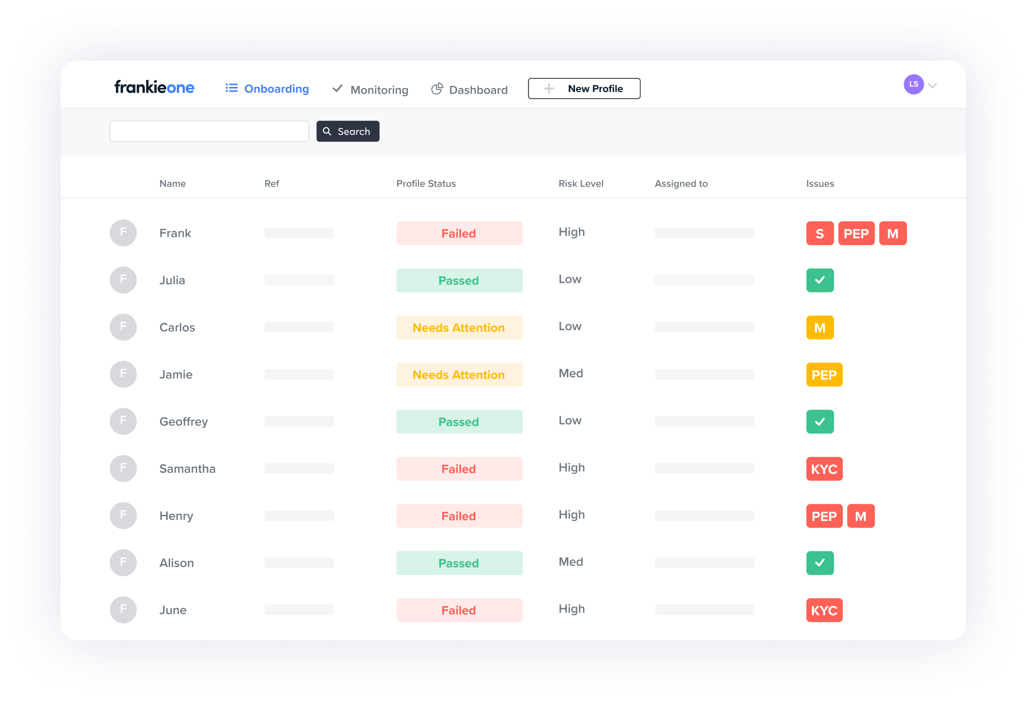 Unified customer view of onboarding