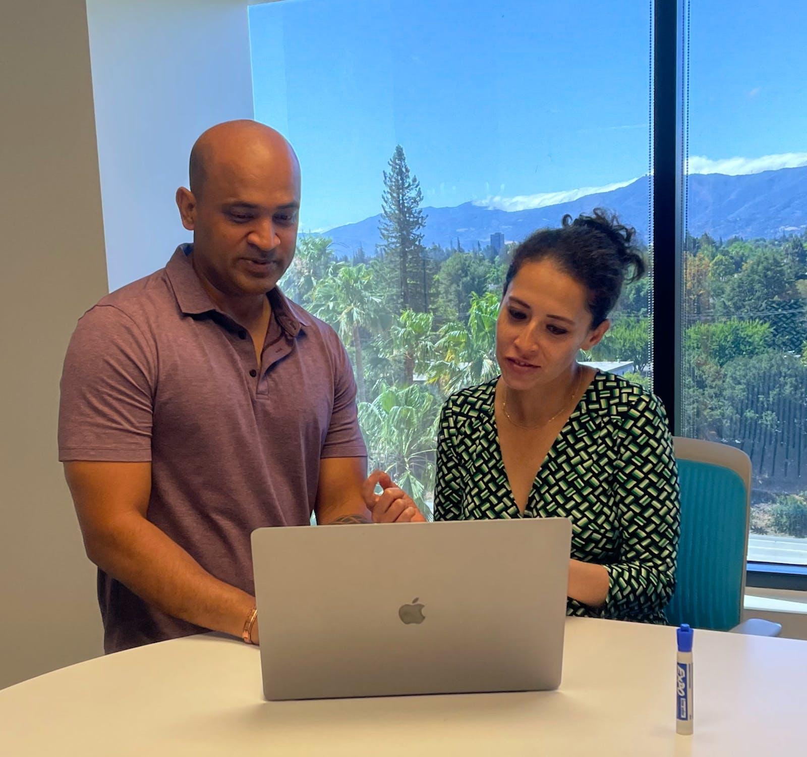 Ravi and Somya at their San Jose headquarters