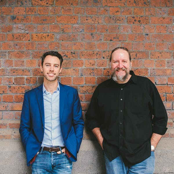 Co-founders Simon Costello (CEO) and Aaron Chipper (CTO)