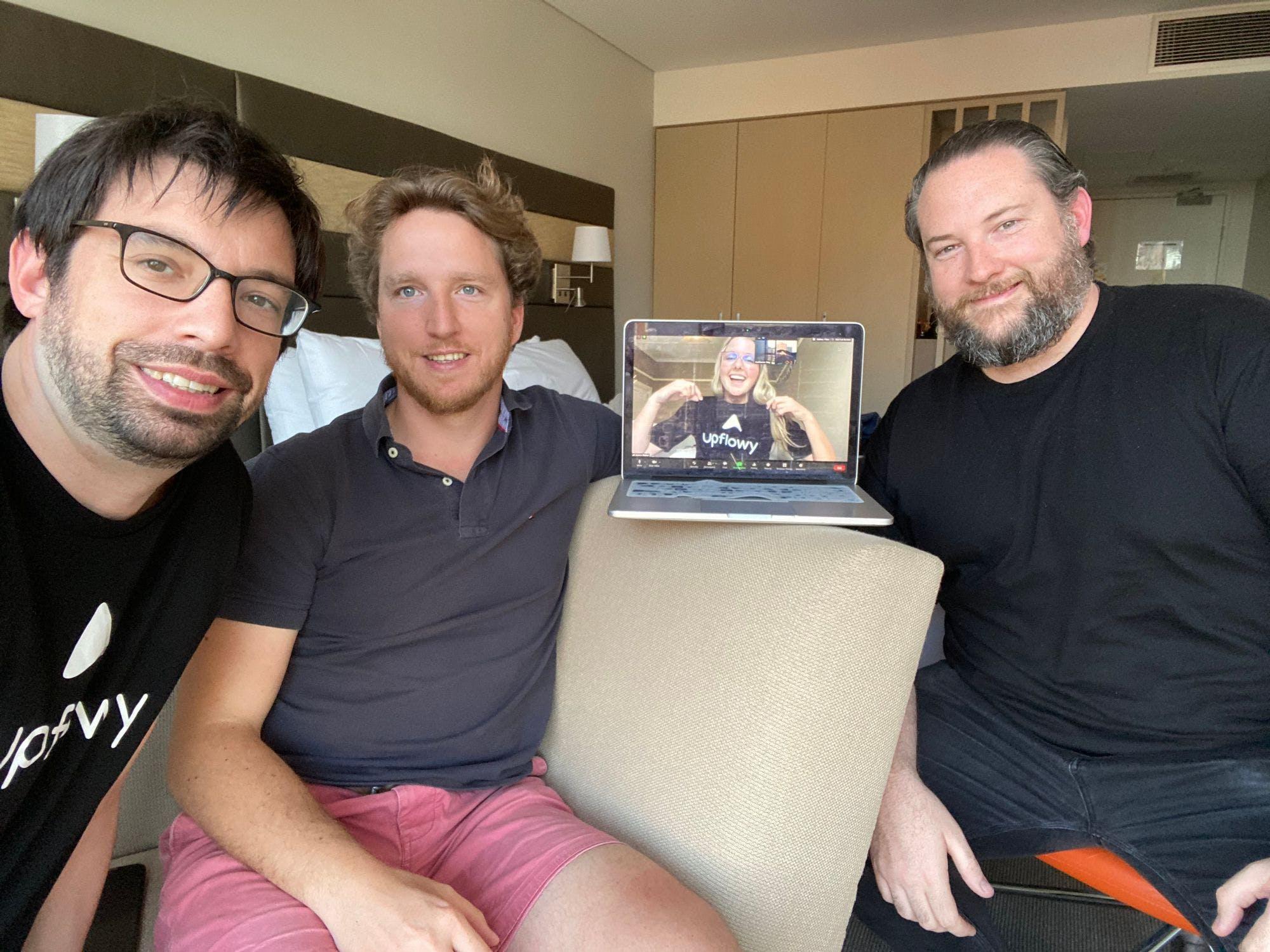 Covid-style team photo.