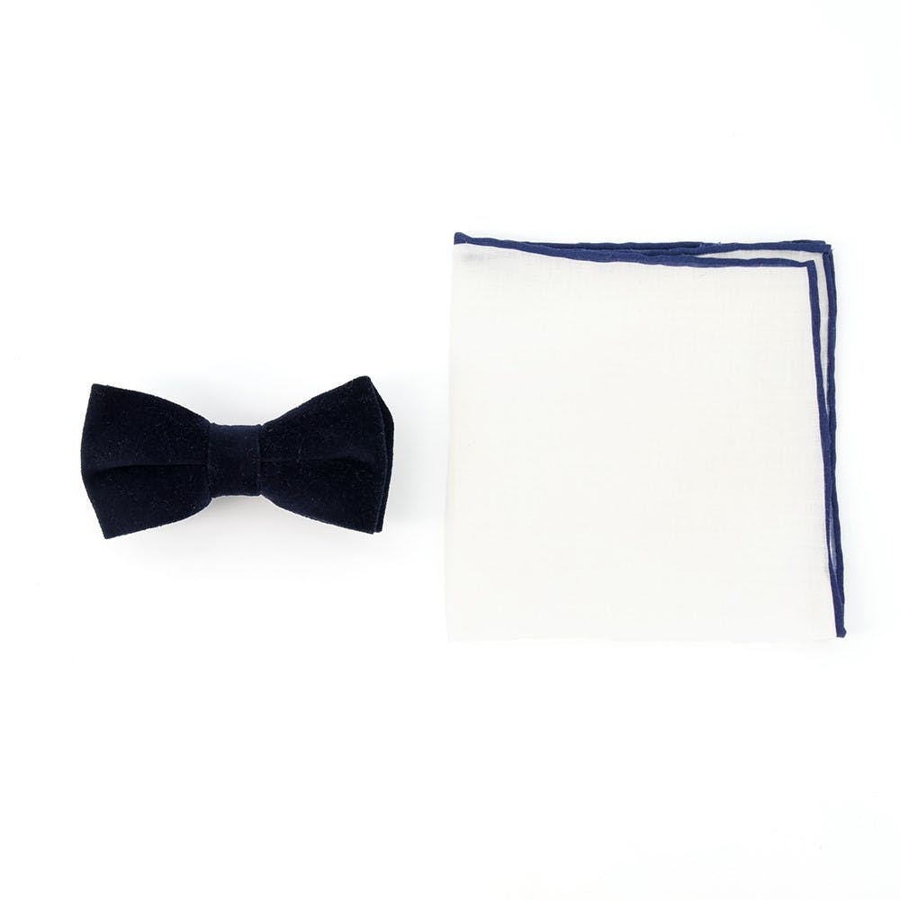 Velvet Bow Tie Combo for Formal Events