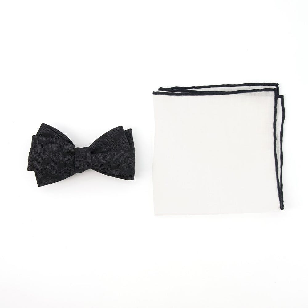 Floral Bow Tie Combo for Formal Events