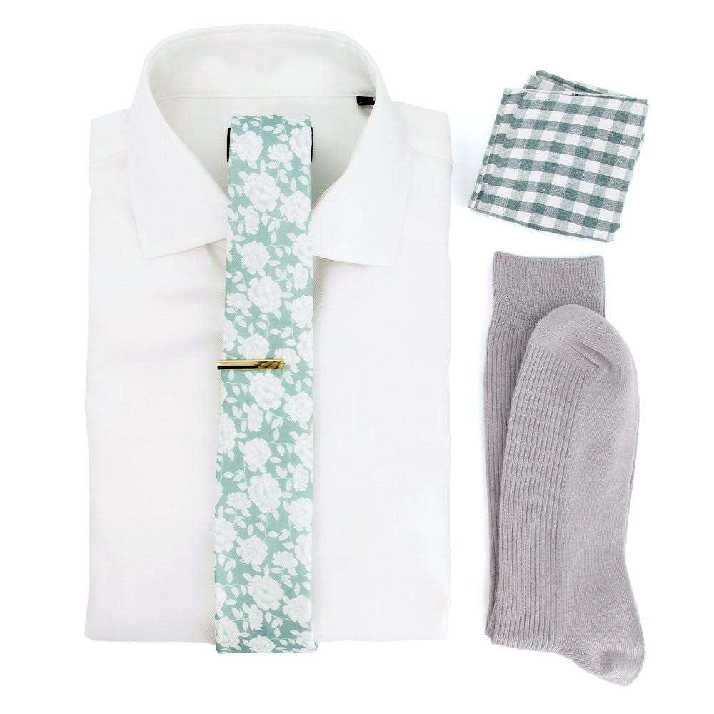 Sage Floral Wedding Outfit